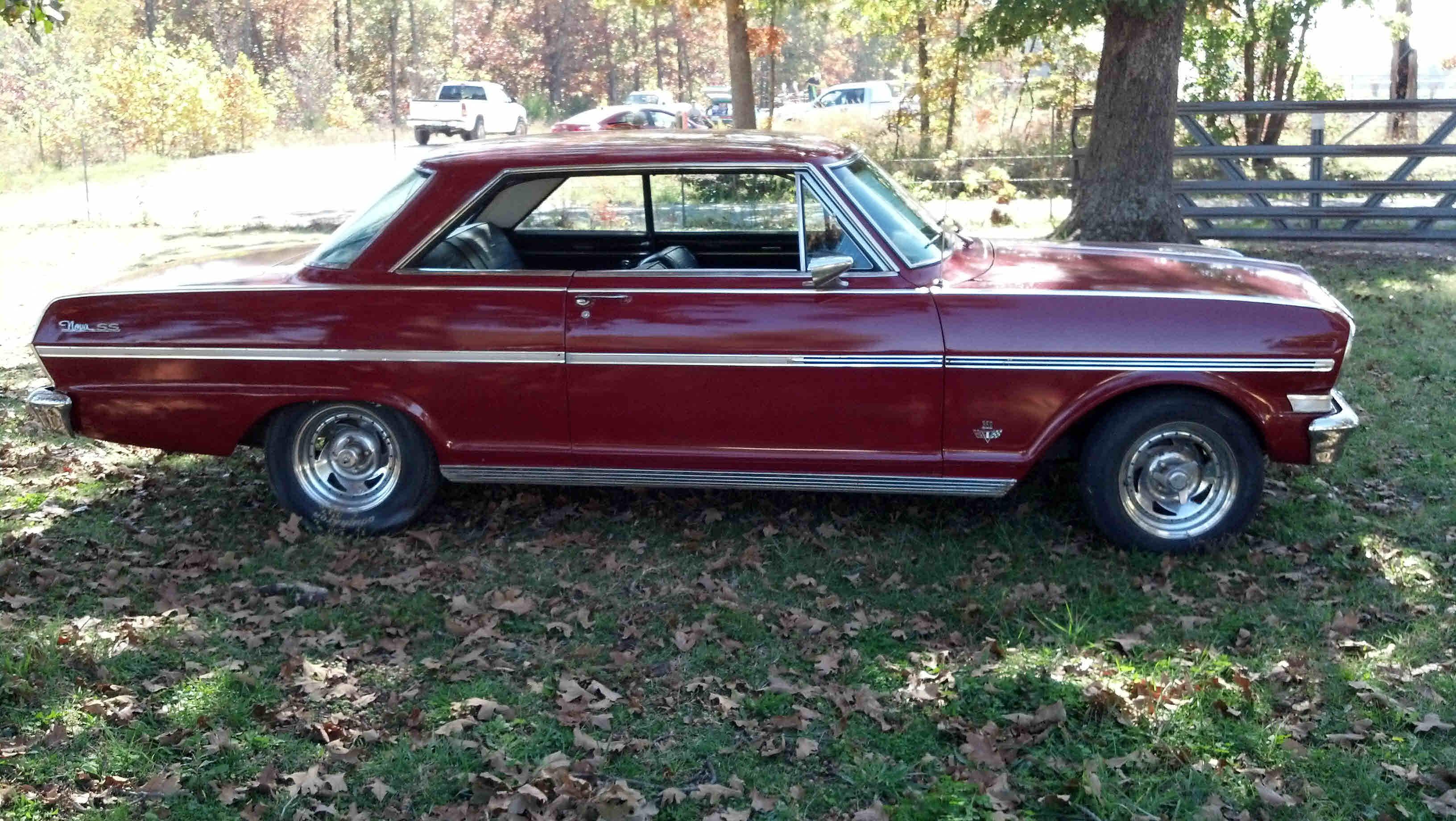 Chevy Ss Interior >> Red, black vinyl interior, V8 283, auto, 2 door hardtop