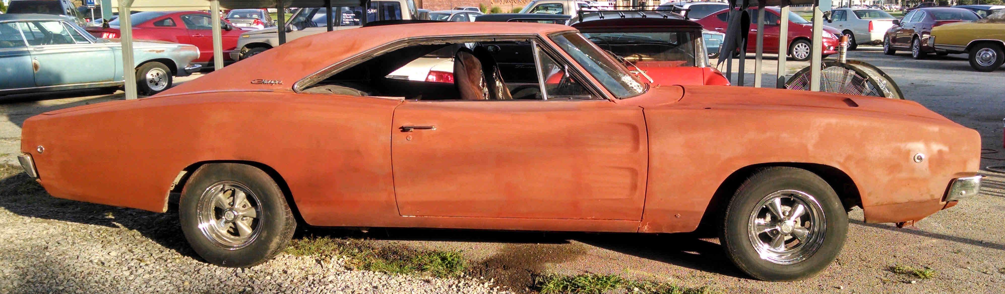 Loughmiller Motors 1968 Chevrolet Caprice 2 Door Dodge Charger Sold Primered Originally Red W Tan Vinyl Top 440 V 8 Now Was 383 Auto 11000