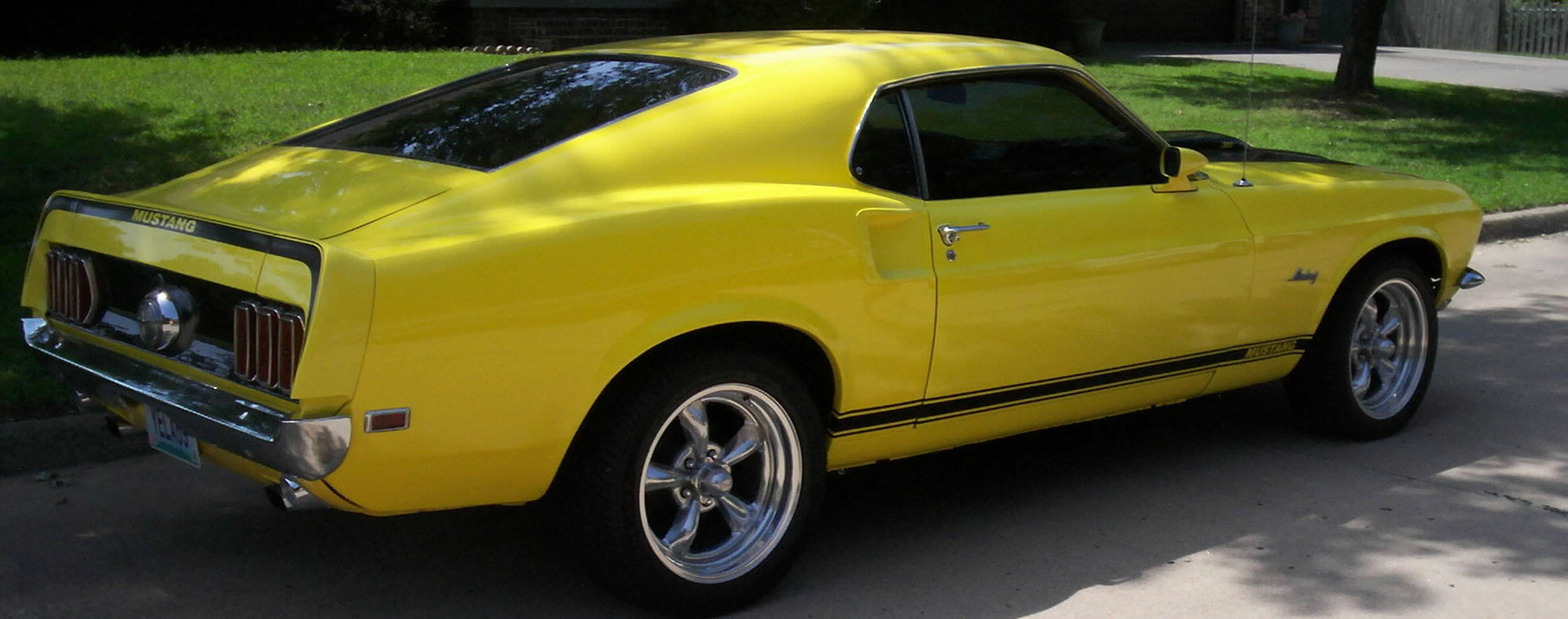1969 Ford Mustang Fastback Sold Yellow Black Vinyl