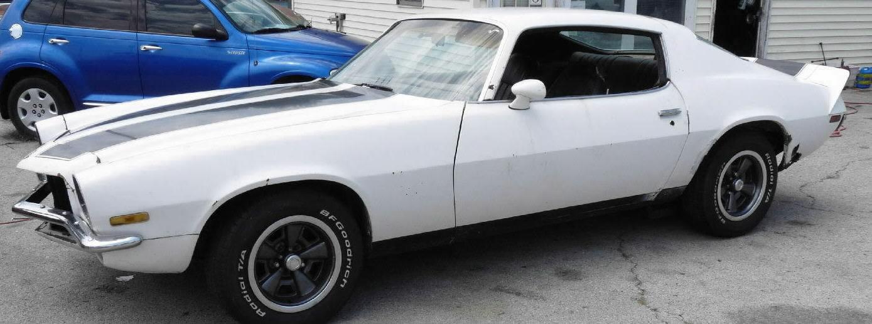 1973 Chevy Camaro Sold White W Black Stripes V 8