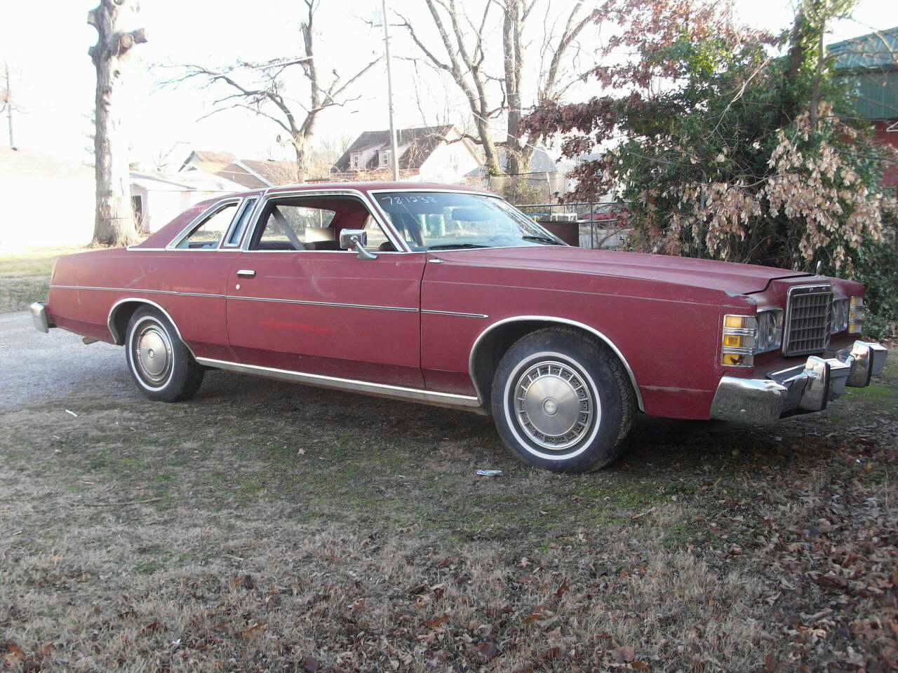 Loughmiller motors red red cloth interior v 8 auto 2 door ac amfm 70000 miles storm damaged to windows on right side publicscrutiny Choice Image